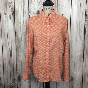 J. McLaughlin Orange Casual Button Front Shirt 12